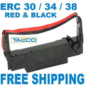36 Epson Erc 30 34 38 Black Red Ink Pos Printer Ribbons free Shipping