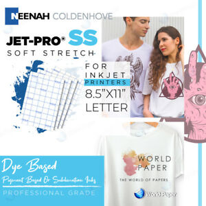 Inkjet Heat Transfer Paper Iron On Jet pro Ss Sofstrech 8 5 X 11 100 Sheets