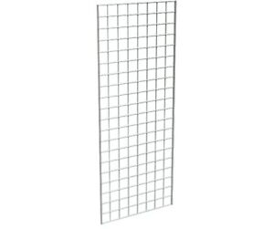 Grid Panel 24 X 60 1 4 Dia Wire 3 X 3 Squares Chrome Lot Of 3