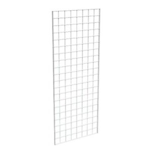 Grid Panel 12 X 60 1 4 Dia Wire 3 X 3 Squares White Lot Of 3
