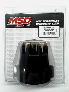 Msd 84333 Black Distributor Cap Wire Retainer For Chevy V8 Hei Brass Terminals