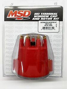 Msd 84335 Red Distributor Cap Rotor Kit W Wire Retainer For Chevy V8 Hei