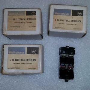 Lot Of 3 Westinghouse Electrical Interlock L56