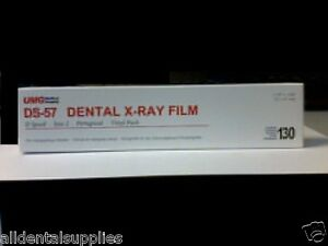 Dental Ds 57 Size 2 Speed Double X ray Film 130 box Vinyl Packing Umg Imaging
