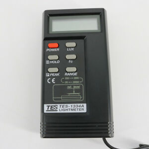 Digital Light Meter Tes 1334a lux fc Function
