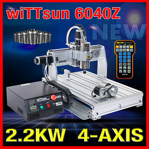 Usb Four 4 Axis 6040 2 2kw Cnc Router Engraver Engraving Milling Machine Mach3
