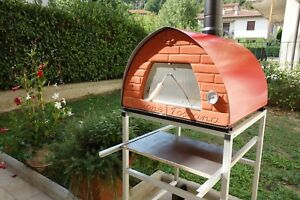 Italian Wood Fired Pizza Oven Passione Toscana 70x70 Red Pizza Party Support