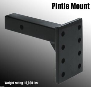 Hd 2 10 000 Lbs Trailer Truck Receiver Pintle Mount Hitch Adjustable Flat Plate