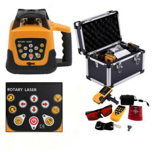 Automatic Self leveling Rotary Rotating Red Laser Level Kit 500m carrying Case