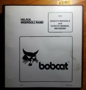 Bobcat 943 Skid Steer Service Manual 6570008 4 86 With Revisions To 6 96