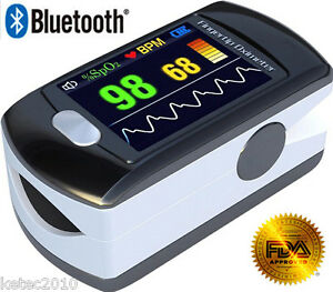 Fda Bluetooth Oled Fingertip Pulse Oximeter Cms50ew Blood Oxygen Spo2 Monitor