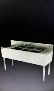 New Perlick 96 In 3 Compartment Sink W 2 30 In Drain Boards