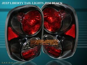 2002 2007 Jeep Liberty Altezza Tail Lights Black 2003