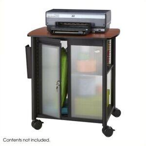 Safco Impromptu Personal Mobile Storage Center In Cherry Black