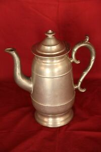 Circa 1850 S American Pewter Lighthouse Style Coffee Pot
