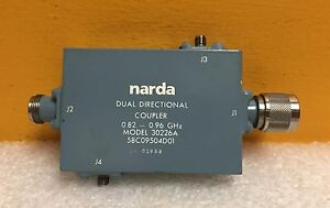 Narda 30266a 0 82 To 0 96 Ghz 30 Db Type N Sma Dual Directional Coupler