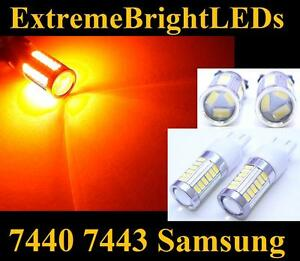 Two Orange Amber 7440 7443 T20 High Power 33x Samsung 5730 Turn Signal Lights