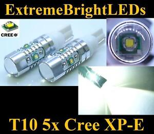 Two Xenon Hid White 25w 5x Cree Xp e T15 921 T10 2825 Led Backup Lights 85b