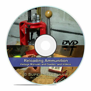 Learn How To Reload Ammunition .45 9mm .223 Ammo Reloading Books CD in PDF V22