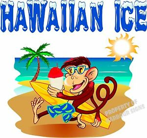 Hawaiian Decal 36 Shave Ice Concession Trailer Food Truck Cart Vinyl Sticker
