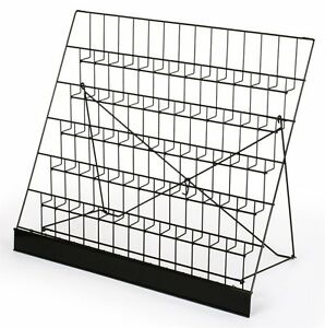 Rack Display Six Tier Black Wire Magazine Books Newspaper Vendors Light Carry