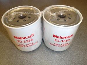 Lot Of 2 new Motorcraft Fd 3368 Fuel Filter Water Seperator