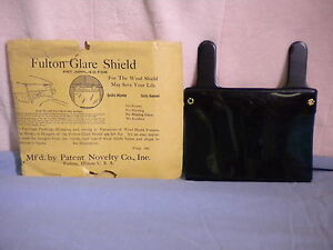 Vintage Fulton Glare Shield With Original Packaging And Buick Advertising