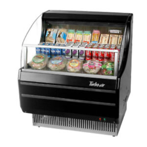 Turbo Air Tom 30sb Black Open Display Case Cooler In Black