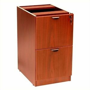 Filing Cabinet Office File Storage 2 Drawer Vertical Wood In Cherry