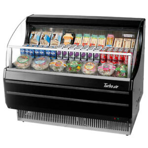 Turbo Air Tom 50sb Black Open Display Case Cooler In Black
