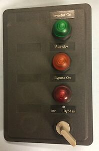 Westinghouse Custom Pushbutton Panel 3 Pb1t1r Indicating Lights