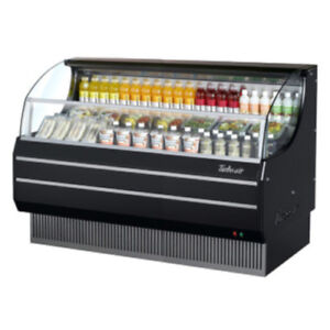 Turbo Air Tom 75sb Black Open Display Case Cooler
