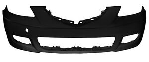 New Front Bumper Cover Primered Ma1000215 For Mazda 3 Sedan 2007 2009