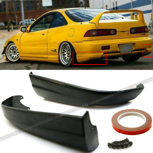Fit 98 01 Integra Rear Bumper Lip Spoiler Cap Splitter Valance Spats Add On