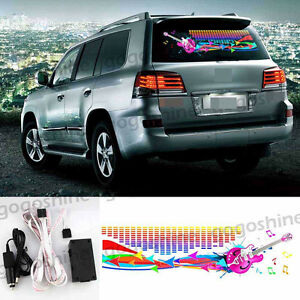 Car Sticker Music Rhythm Flash Light Led Sound Activated Equalizer Lamp 90 25cm