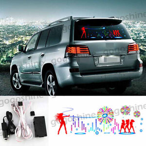90x25cm Car Music Rhythm Light Led Sticker Sound Activated Equalizer Dance Mu20