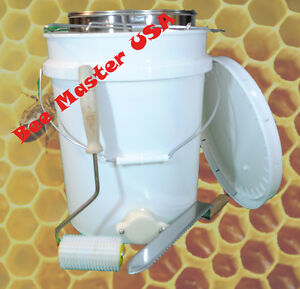 Bottling Pail With Gate Lid Double Sieve Strainer uncapping Roller And Knife