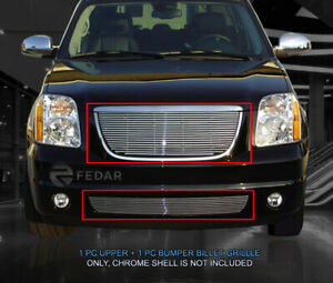 Billet Grille Front Combo Grill Fits 2007 2013 Gmc Yukon