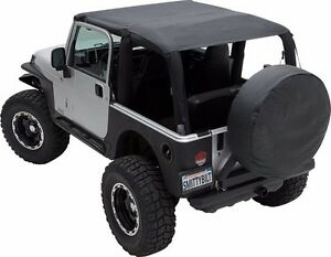 Smittybilt Extended Top Blk W Windshield Channel Fits Jeep Wrangler Yj 87 95