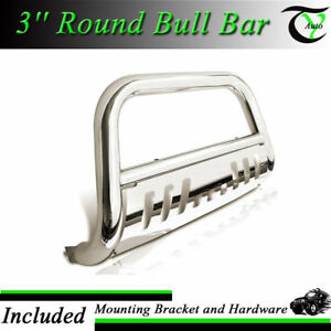 For 11 17 Gmc Sierrs 2500 3500 Ss Bull Bar W Skid Plate Brush Push Grille Guards