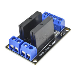 5v Dc 2 Channel Solid state Relay Board Module High Level Fuse For Arduino