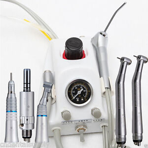 Dental Portable Turbine Unit Sn4 High Slow Speed Handpiece Kit 4 holes Nsk