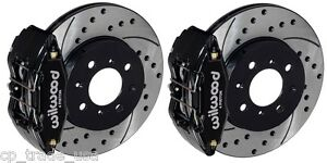 Wilwood Dpha Front Brake Caliper Drilled Slotted Rotor Kit Black 92 00 Civic Ex