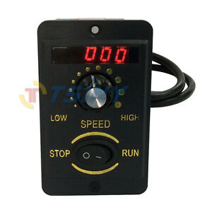 6w Digital Display 220v Ac Motor Electrical Speed Controller Regulator Switch