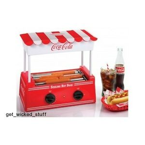 Coca cola Hot Dog Roller Bun Warmer Mini Electric Grill Nostalgia Series