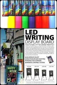 Flashing Led Writing Board Advertising Menu Remote And Markers Small