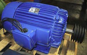 30 Hp Ac Motor Made By Teco 3 Phase Induction Motor 230 460 Volt Type Aeea Xx