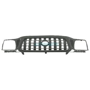 New Grille Black Finish Fits 2001 2004 Toyota Tacoma To1200250