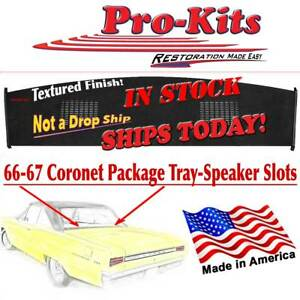 66 67 Coronet Satellite Gtx 2 Door Ht Rear Window Package Tray Shelf W Slots