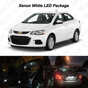 6 X White Led Interior Bulbs License Plate Lights 2012 2016 Chevy Sonic